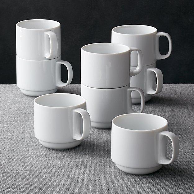 Logan Stacking Mugs Set Of 8 Crate And Barrel