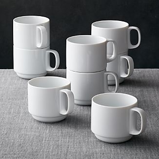 Logan Stacking Mugs, Set of 8