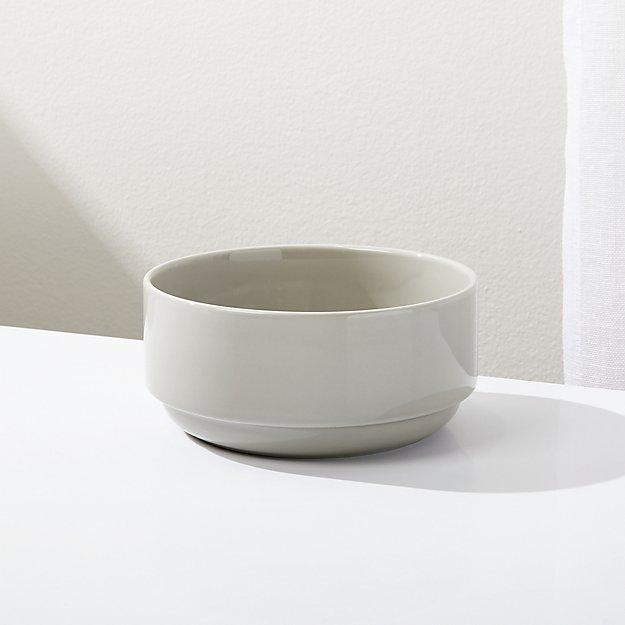 Logan Grey Stacking Bowl - Image 1 of 4