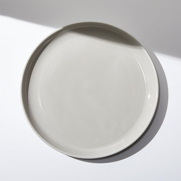 Logan Grey Stacking Dinner Plate - Image 1 of 4
