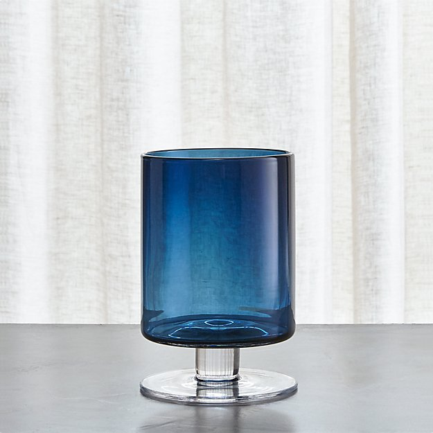 London Small Blue Hurricane Reviews Crate And Barrel