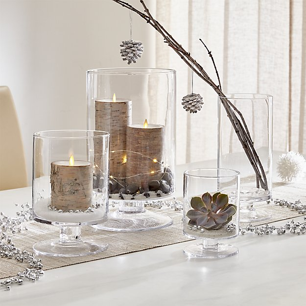 London Glass Hurricane Candle Holders - Image 1 of 12