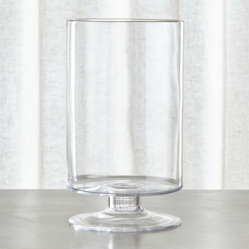 London Tall Glass Hurricane Candle Holder - Crate and Barrel