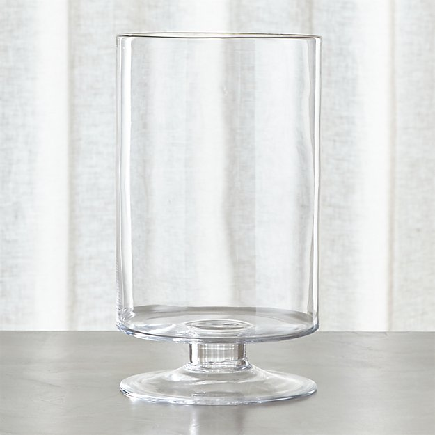 London Large Clear Hurricane Candle Holder Reviews Crate And Barrel
