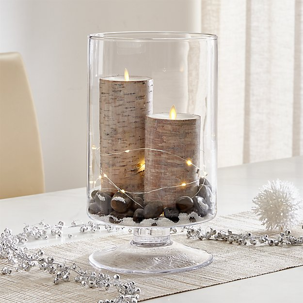 London Large Clear Hurricane Candle Holder | Crate and Barrel