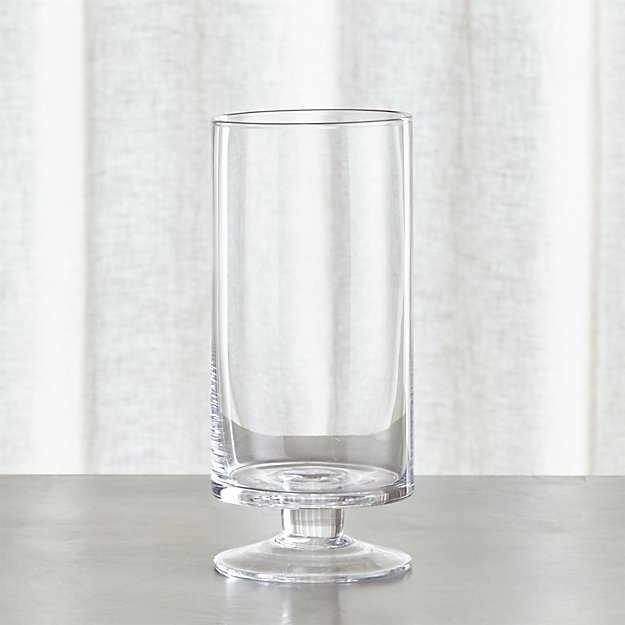 London Narrow Clear Hurricane Candle Holder