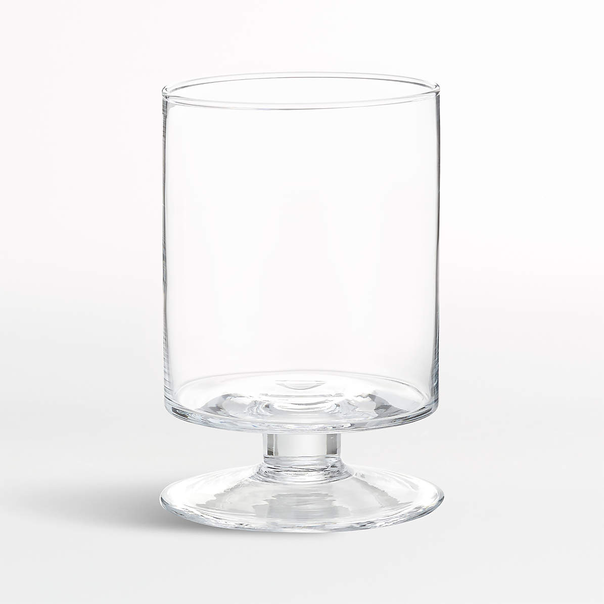 London Small Clear Hurricane Candle Holder Reviews Crate And Barrel