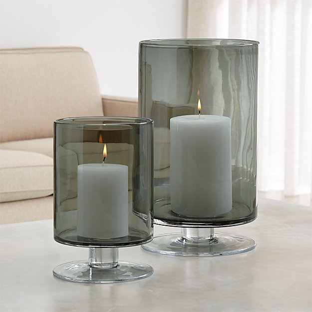 London Smoke Hurricane Candle Holders Crate And Barrel