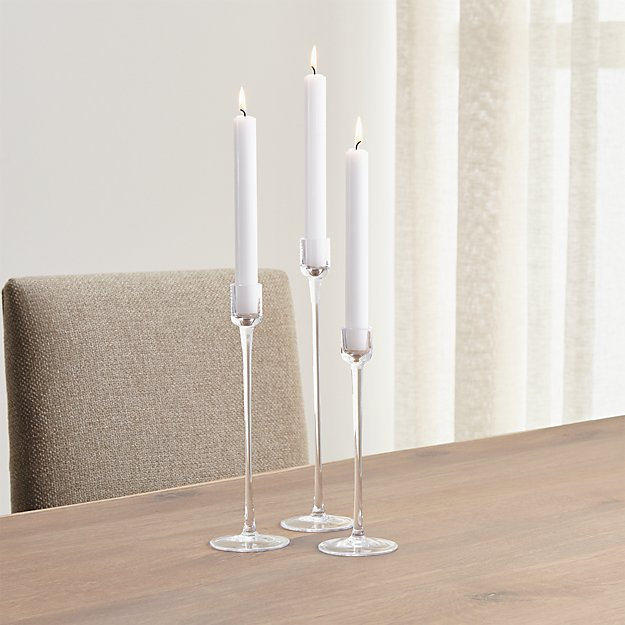 London Glass Taper Candle Holder
