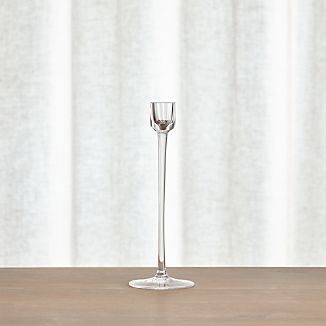 London Glass Short Taper Candle Holder