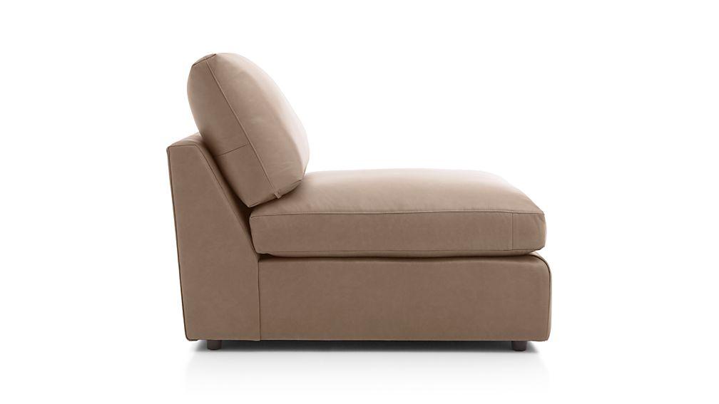 "Lounge II Leather 32"" Armless Chair"
