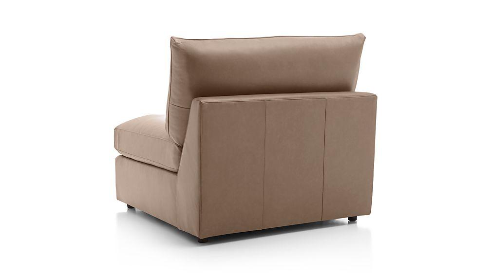 "Lounge II Petite Leather Armless 37"" Chair"