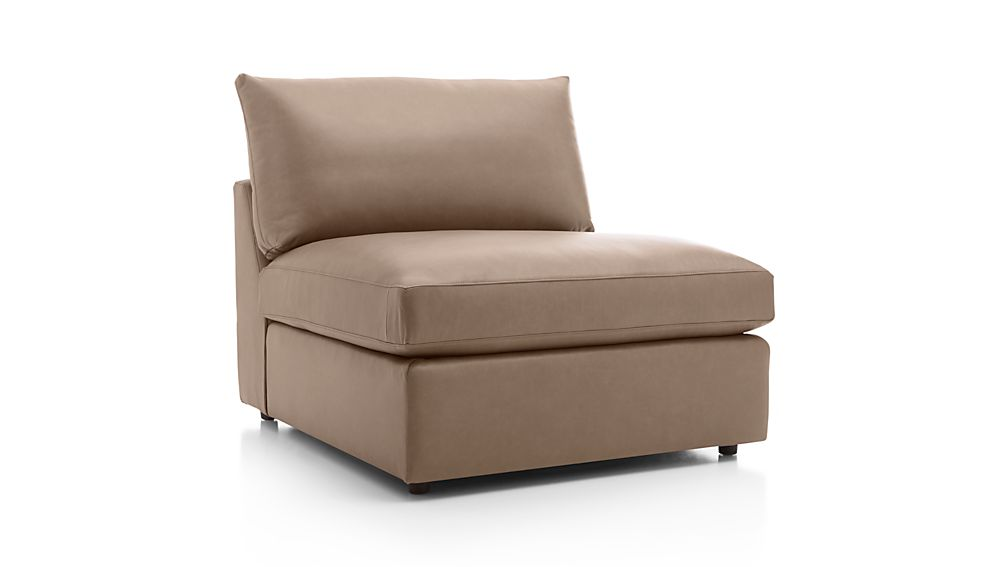 "Lounge II Leather 37"" Armless Chair"