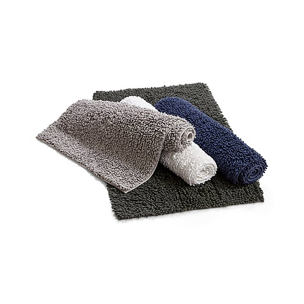 Crate And Barrel Bath Rugs: Loop Midnight Bath Rug In Bath Rugs + Reviews