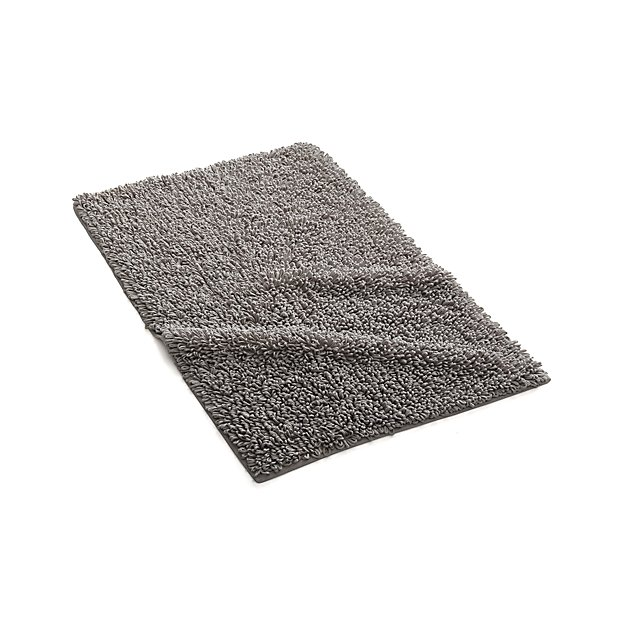 Crate And Barrel Bath Rugs: Loop Light Grey Bath Rug + Reviews