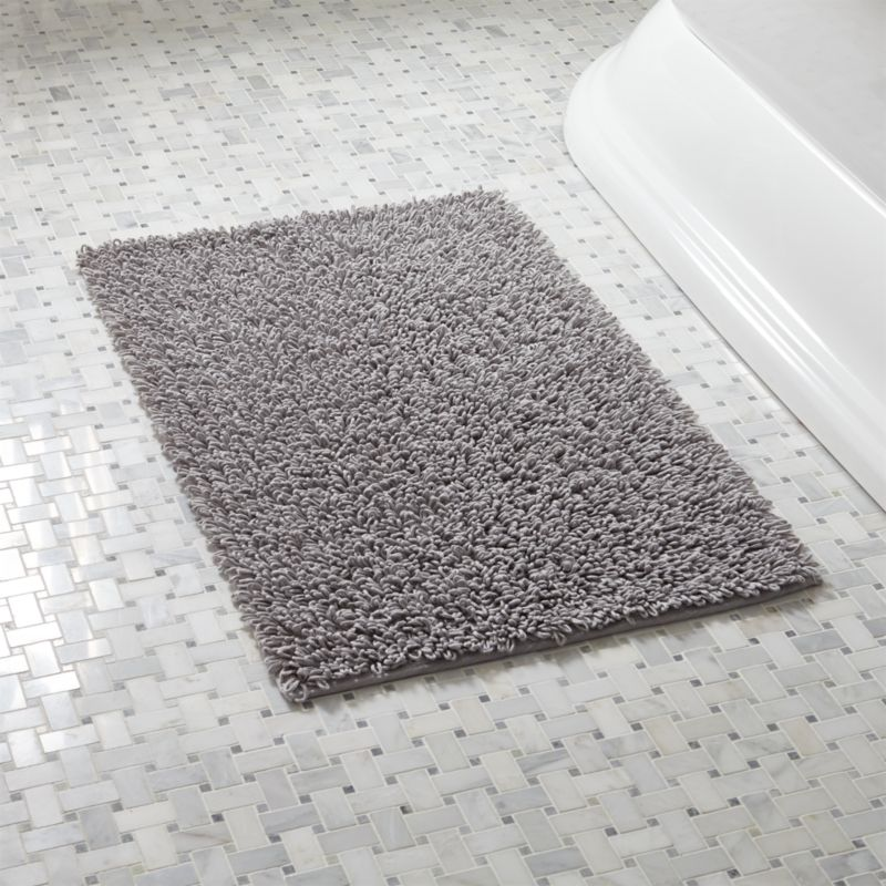 Loop Light Grey Bath Rug Reviews Crate And Barrel