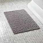 Loop Light Grey Bath Rug