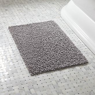 Loop Light Grey Bath Rug. Bathroom Rugs and Bath Mats   Crate and Barrel
