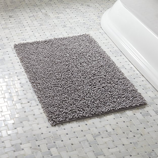 Loop Light Grey Bath Rug + Reviews