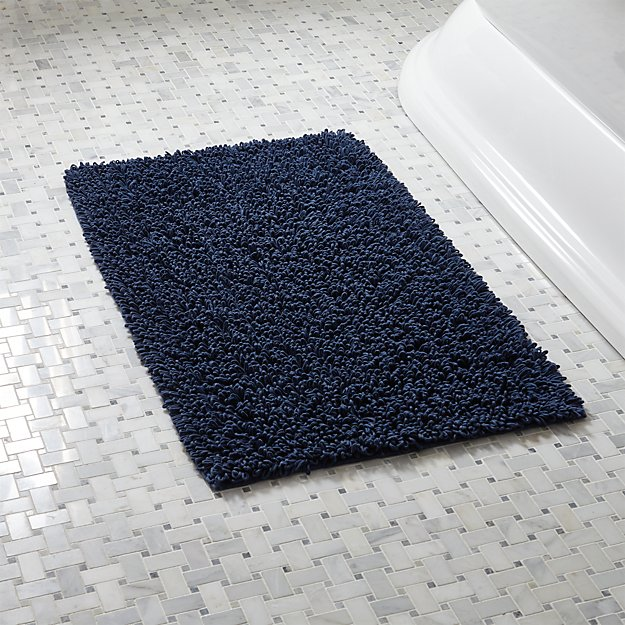 Loop Midnight Bath Rug Crate And Barrel