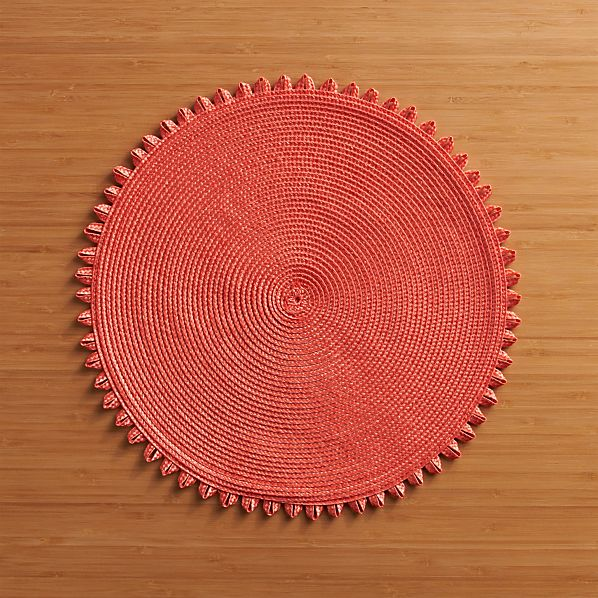 Loopdedoo Orange Placemat