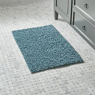 Loop Teal Bath Rug