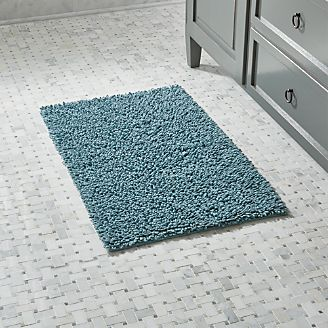 loop teal bath rug - Bathroom Carpet