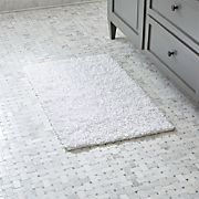 Loop White Bath Rug