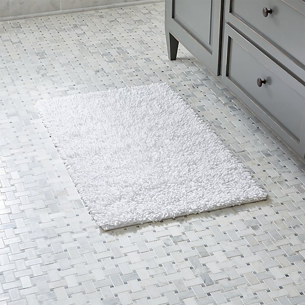 Loop White Bath Rug Reviews Crate And Barrel