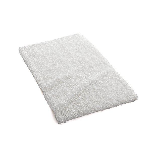 Loop Light Grey Bath Rug Reviews: Loop White Bath Rug In Bath Rugs + Reviews