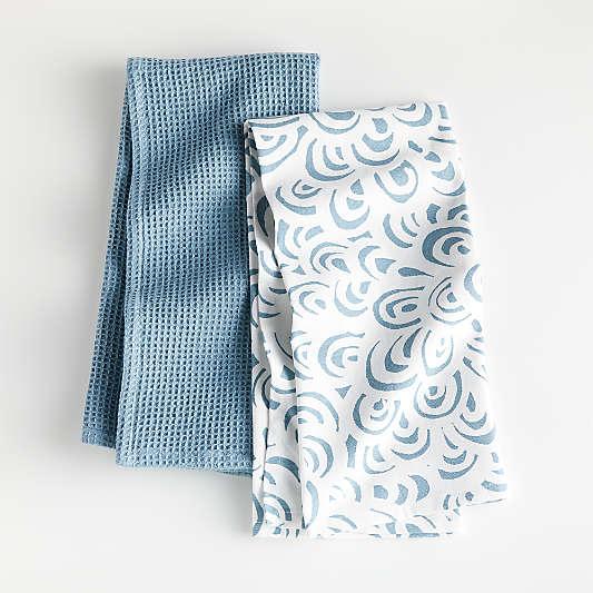 Blue Loops Dish Towels, Set of 2
