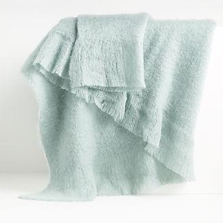 Loren Aqua Soft Throw Blanket