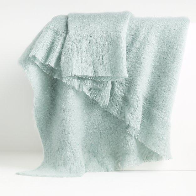 Loren Aqua Soft Throw Blanket - Image 1 of 5