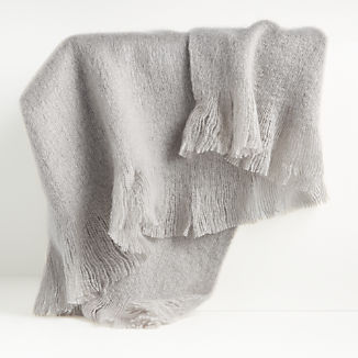 Loren Grey Soft Throw Blanket