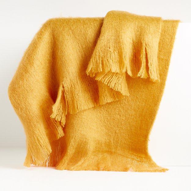 Loren Mango Soft Throw Blanket - Image 1 of 5