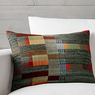 """Lorna 22""""x15"""" Pillow with Feather-Down Insert"""