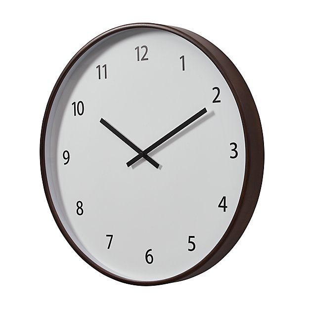 Lorne Large Wall Clock In Clocks Reviews Crate And Barrel