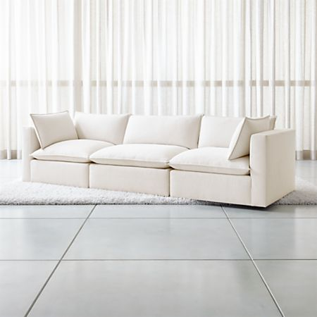 Fabulous Lotus Modular 3 Piece Low Sofa Sectional Crate And Barrel Inzonedesignstudio Interior Chair Design Inzonedesignstudiocom