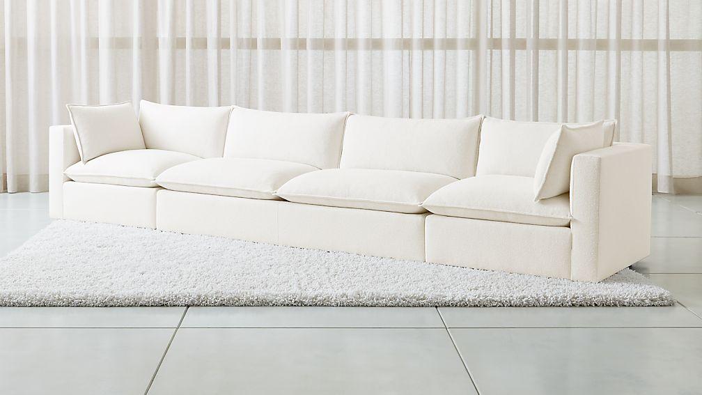 Lotus Modular 3-Piece Extra Long Low Sofa Sectional - Image 1 of 7