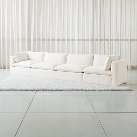 3 Piece Extra Long Low Sofa Sectional