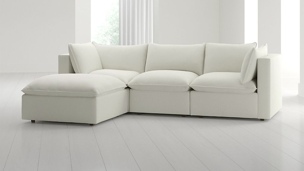 Lotus 4-Piece Reversible Sectional with Ottoman - Image 1 of 7
