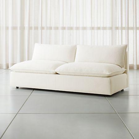 Fabulous Lotus Modular Armless Low Loveseat Andrewgaddart Wooden Chair Designs For Living Room Andrewgaddartcom