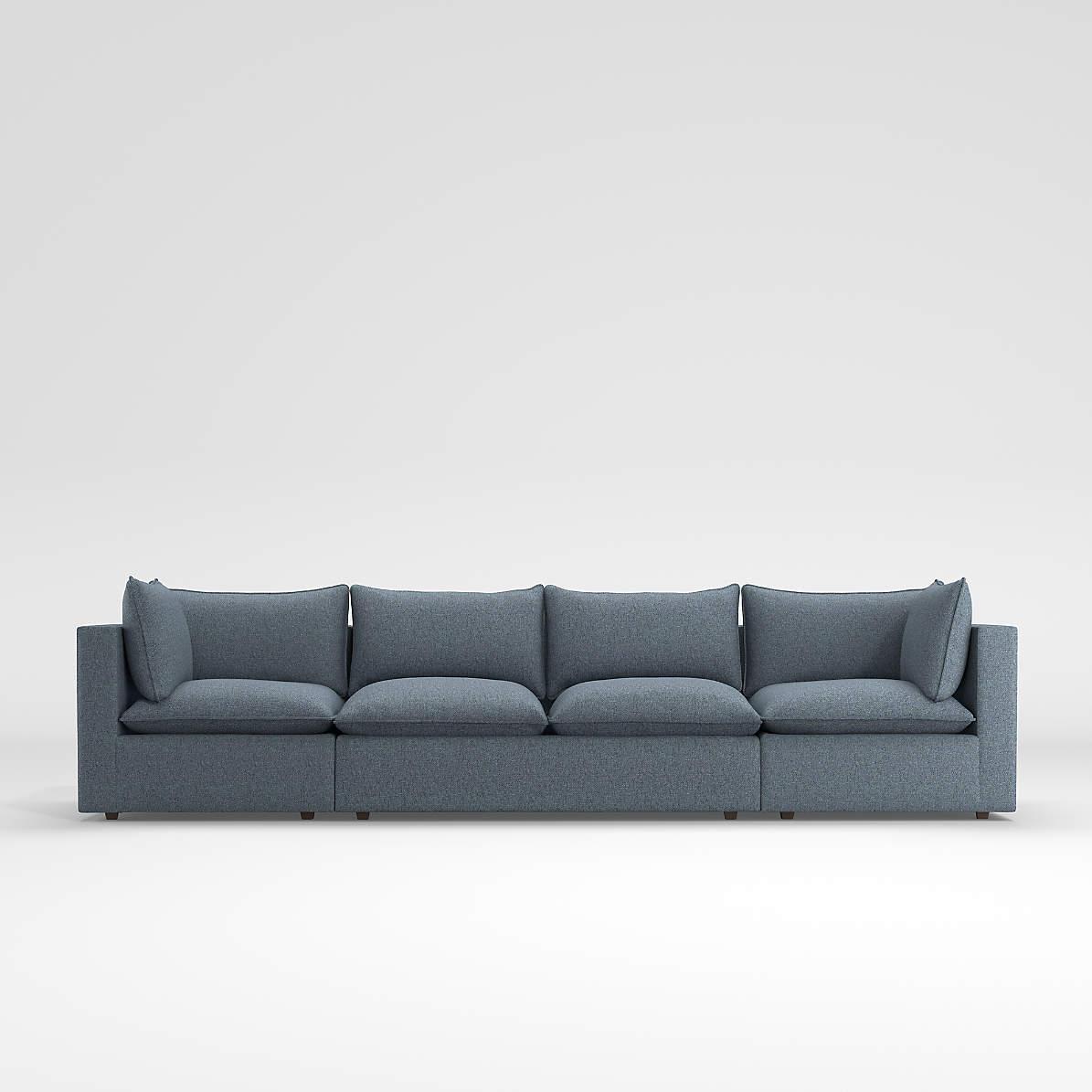 Lotus Petite Modular 3 Piece Extra Long Low Sofa Sectional Reviews Crate And Barrel