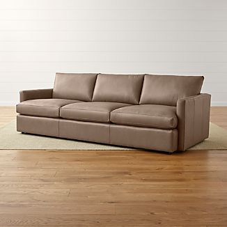 "Lounge II Petite Leather 3-Seat 105"" Grande Sofa"