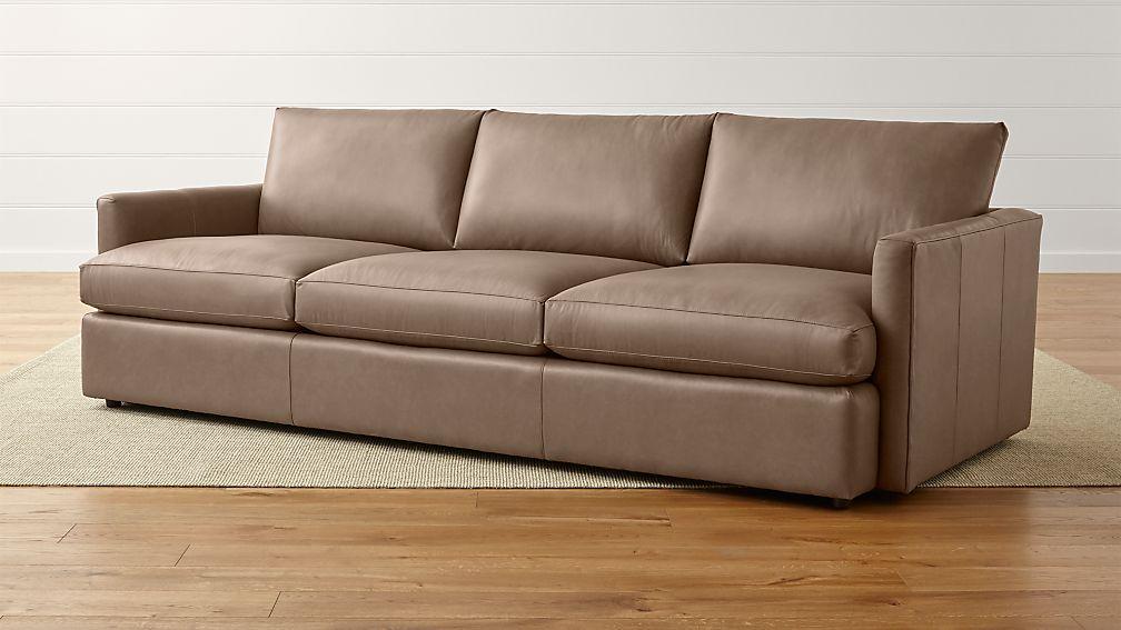 "Lounge II Petite Leather 3-Seat 105"" Grande Sofa - Image 1 of 5"