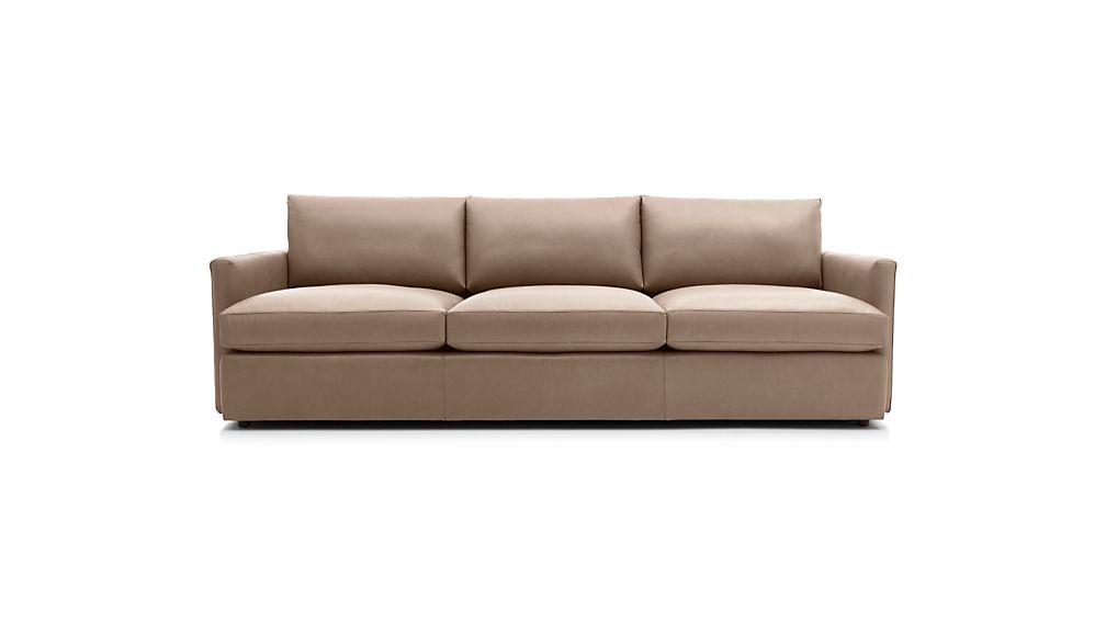 """Lounge II Leather 3-Seat 105"""" Grande Sofa"""