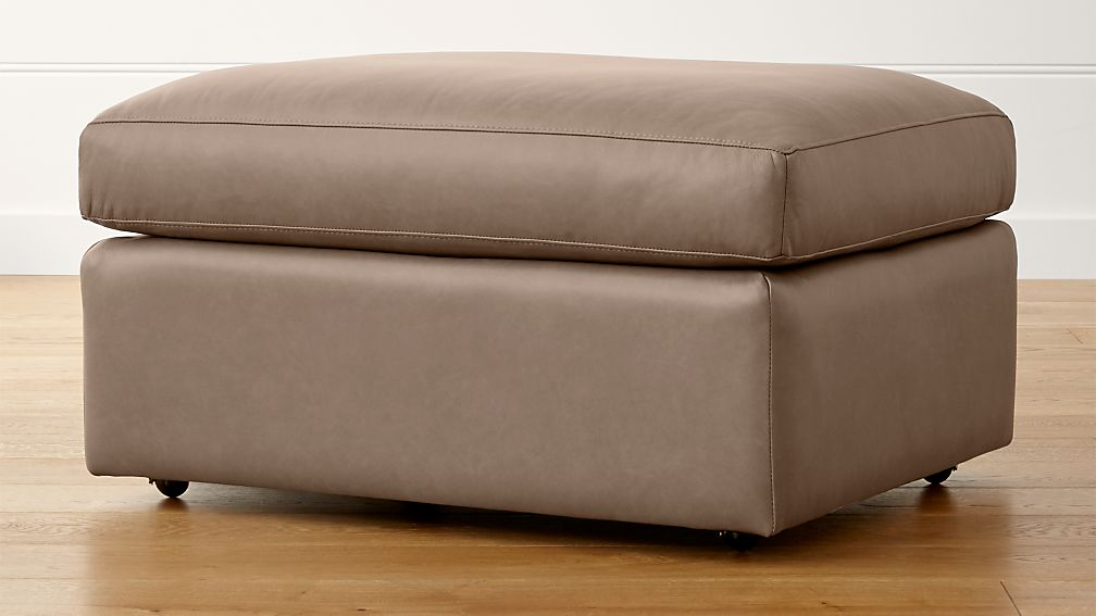 "Lounge II Leather 32"" Ottoman with Casters - Image 1 of 3"
