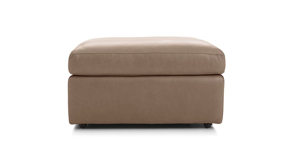 "Lounge II Leather 32"" Ottoman with Casters"