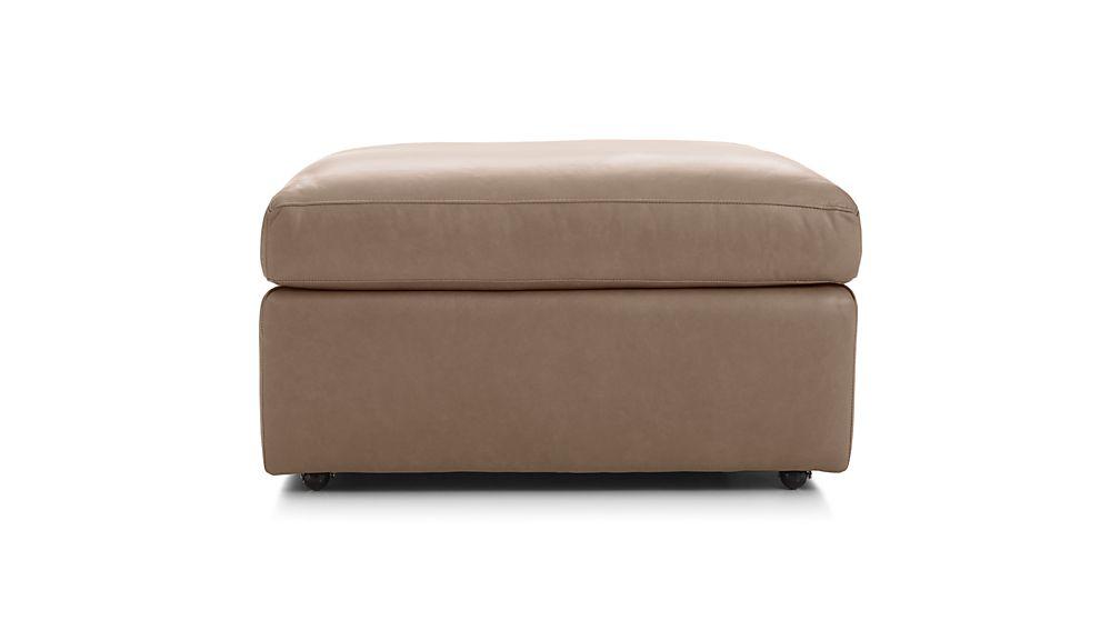 "Lounge II Petite Leather 32"" Ottoman"