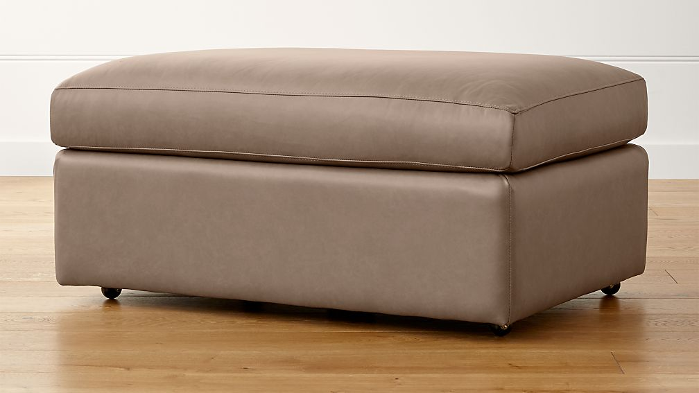 """Lounge II Leather 37"""" Ottoman with Casters - Image 1 of 3"""
